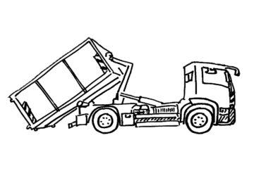 Containerdienst HEG Absetzung eines 13qm Container