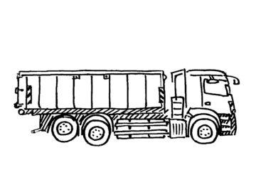 Offener 20 m³ Container auf LKW
