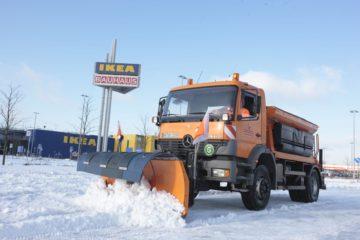 Winterdienst Räumfahrzeug Gewerbe HEG